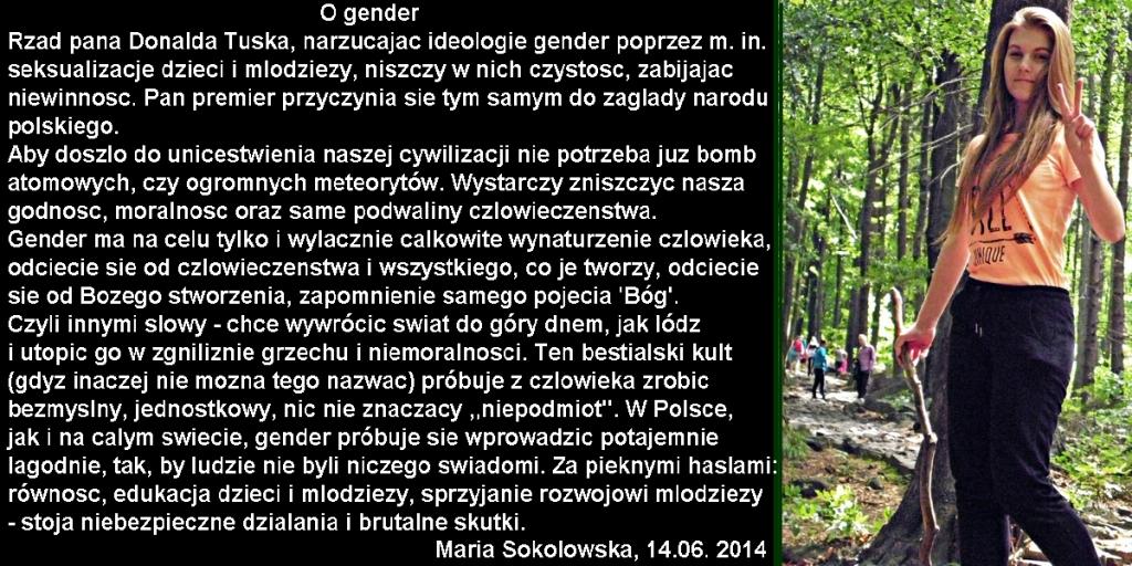 Maria_Sokolowska_lat_17_O_gender_wypowiedz_dla_strony_halat.pl_z_14_czerwca_2014